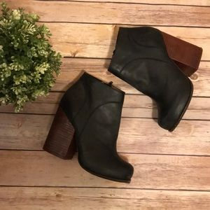 Jeffrey Campbell | Black and Brown Leather Boots